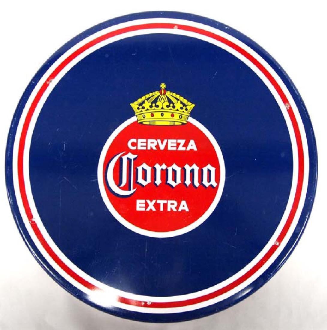 Original Mexican Corona Extra Metal Cerveza Tray - 4