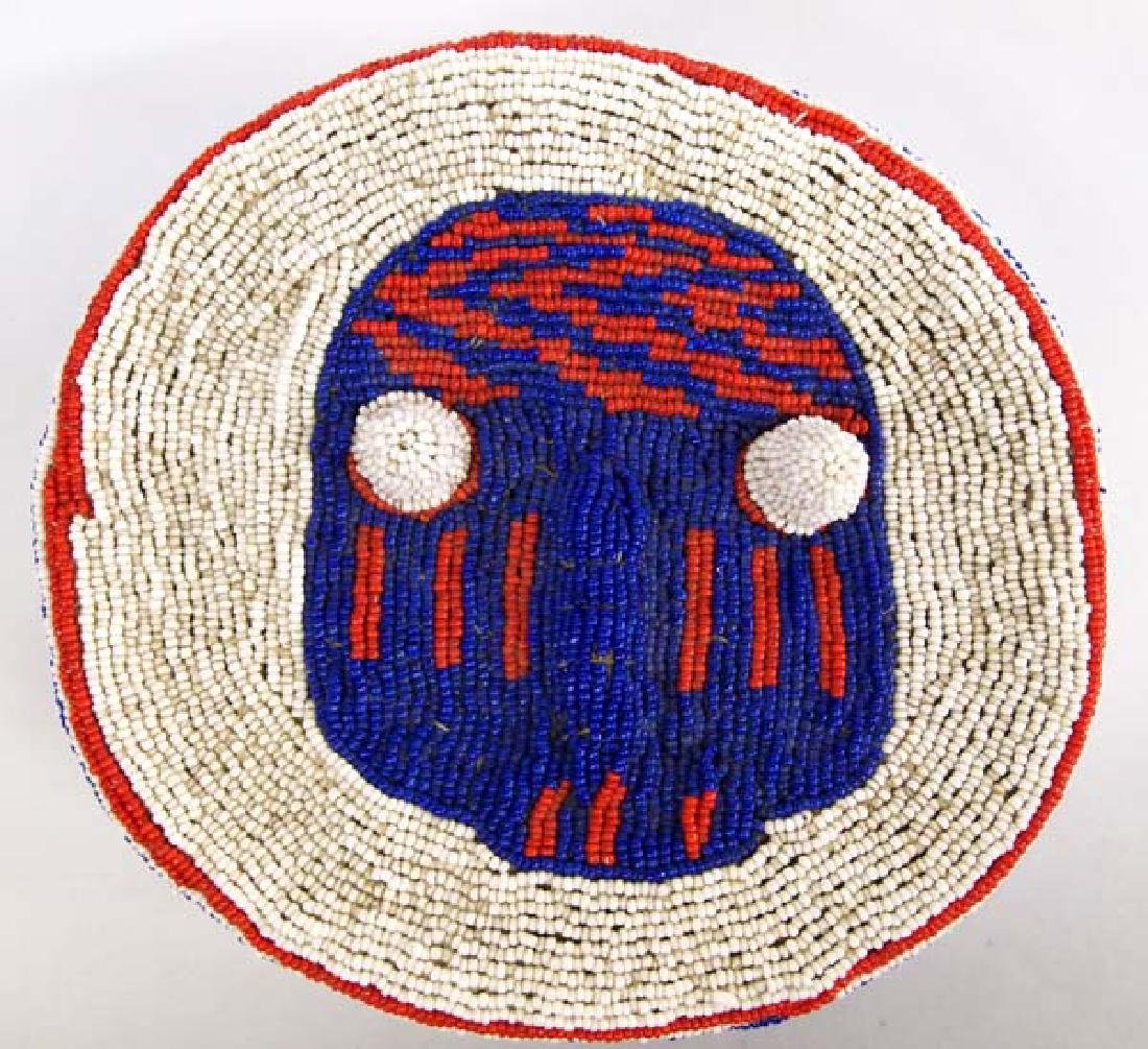 Fully Beaded African Hat - 3