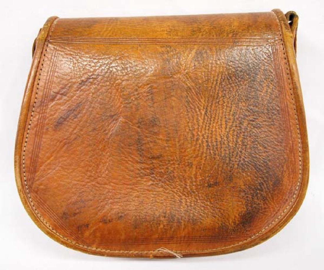 Tooled Leather Purse with Silver Buckle - 3