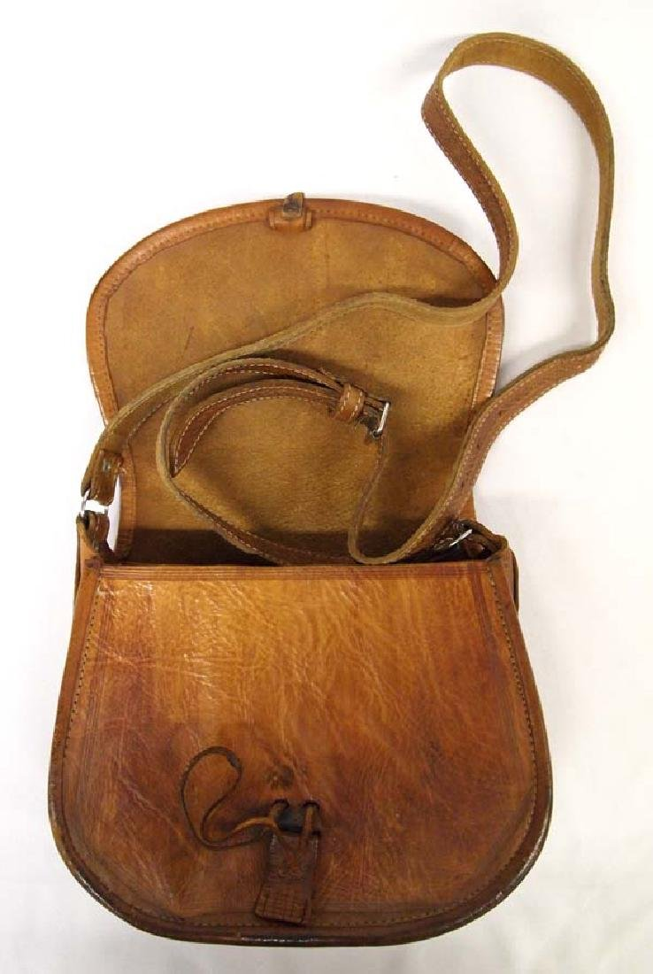 Tooled Leather Purse with Silver Buckle - 4