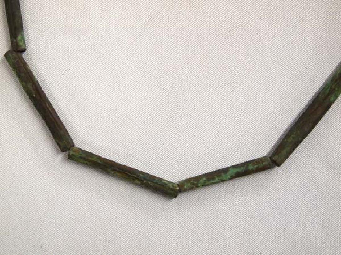 PreColumbian Copper Tube Necklace