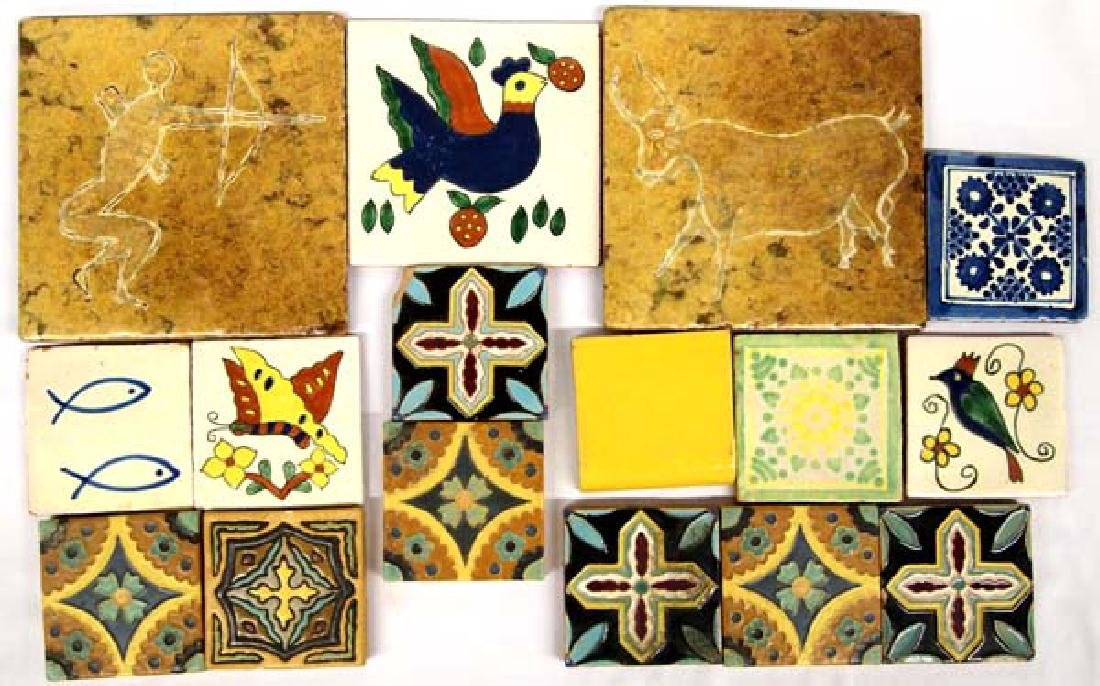 Vintage Mexican Tiles, Various Sizes