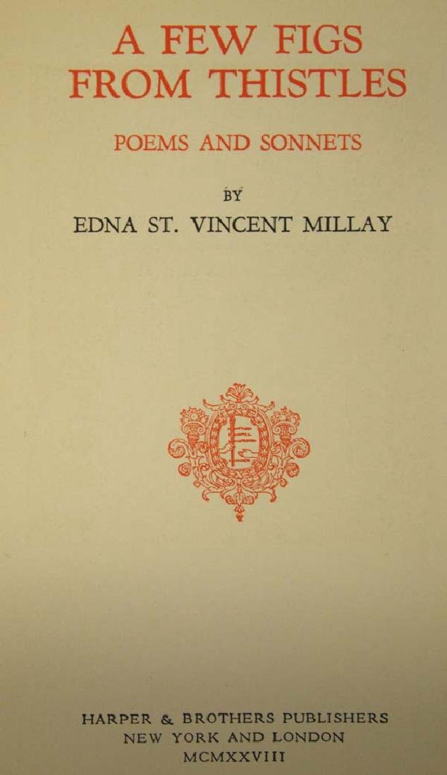 1st Edition, A Few Figs From Thistles by Millay - 2