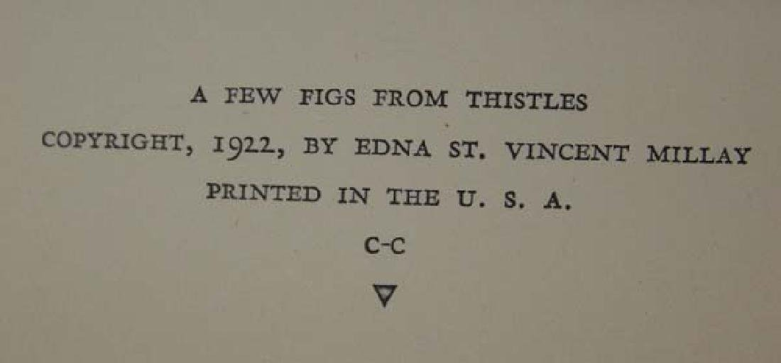 1st Edition, A Few Figs From Thistles by Millay - 4