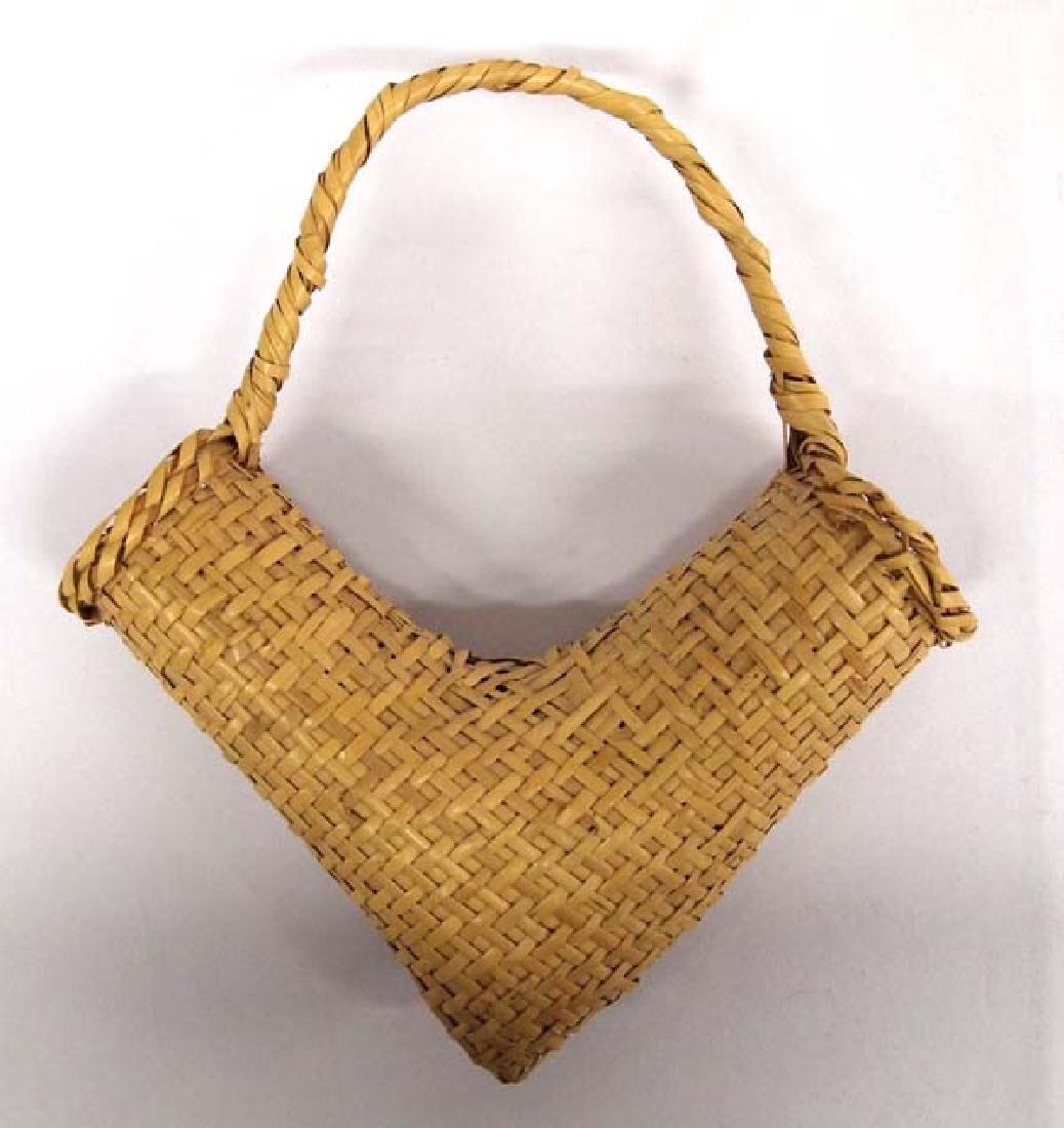 Vintage Choctaw River Cane V Basket