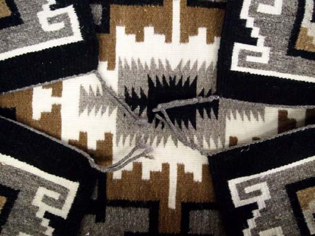 Native American Navajo Klagetoh Woven Textile Rug - 3