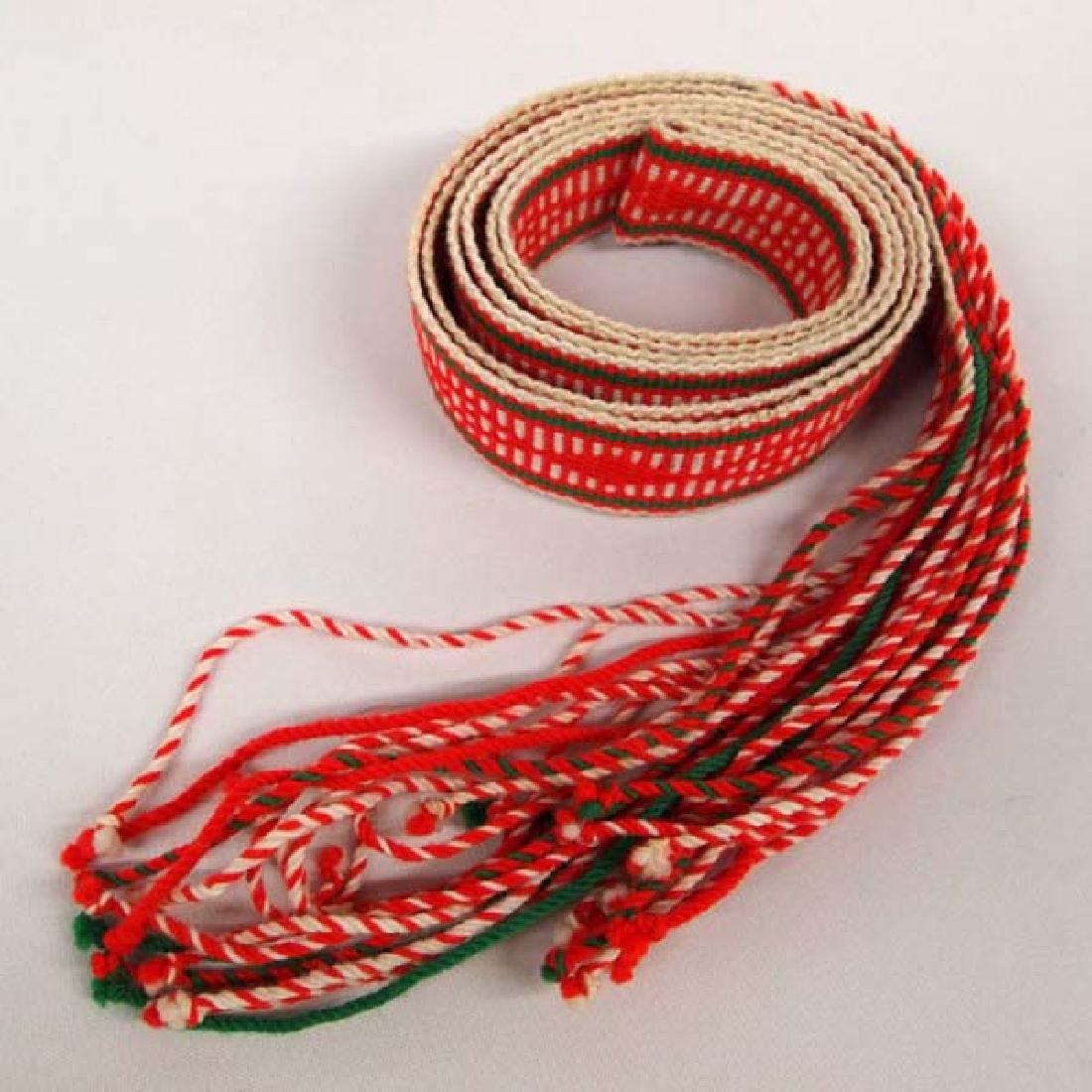 Navajo Finger Weave Fringed Dance Sash