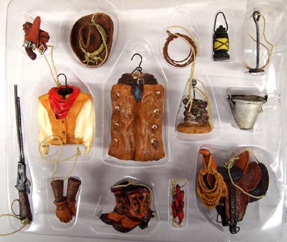 Pacific Rim Miniature Cowboy Christmas Ornaments