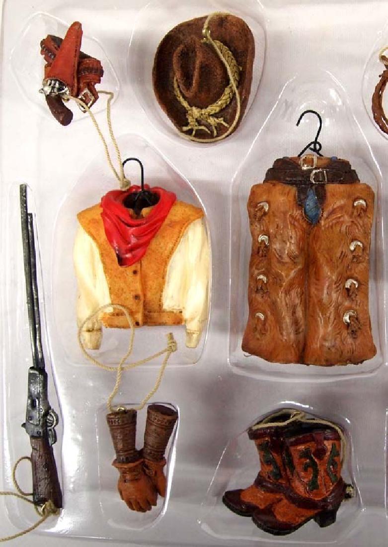 Pacific Rim Miniature Cowboy Christmas Ornaments - 3