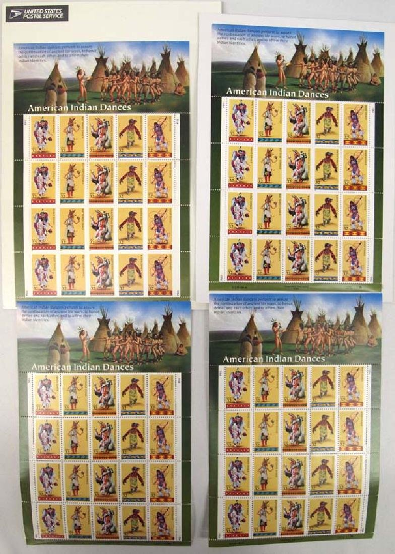 Four 1995 Sets of Limited Edition Postage Stamps