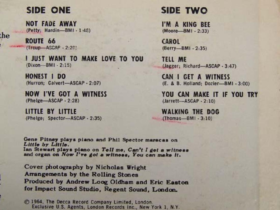 1964 The Rolling Stones 33 RPM Vinyl Album - 2