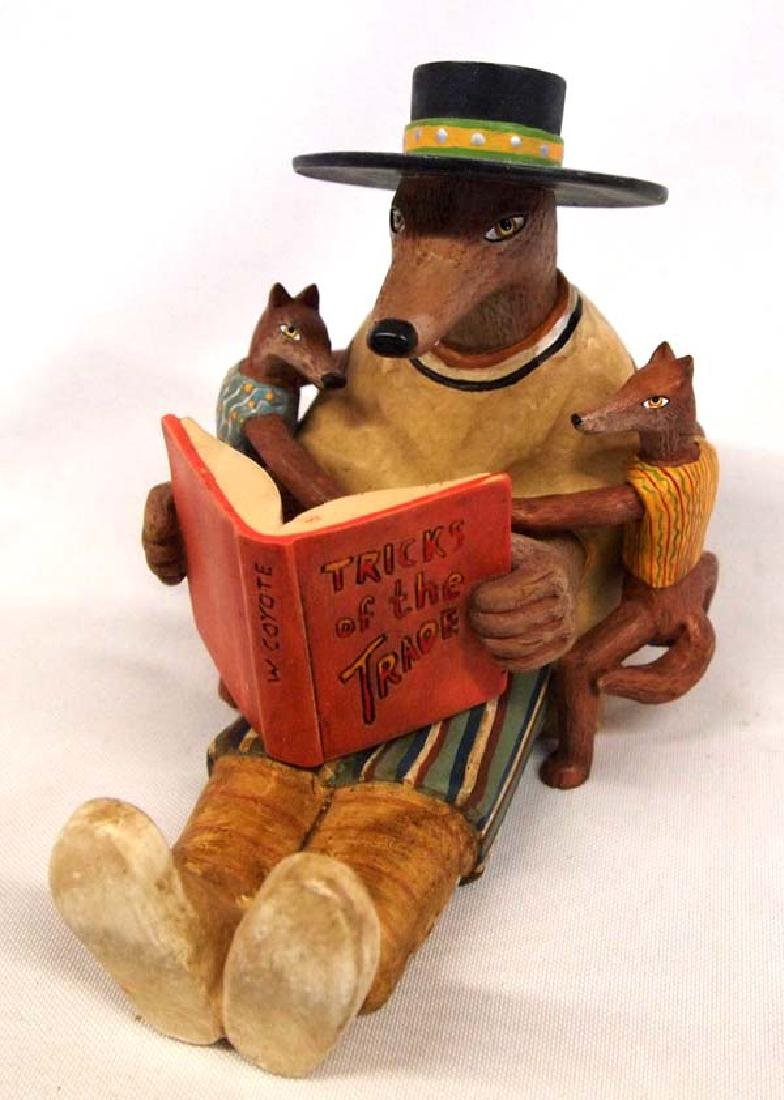 Robert Shields Whimsical Coyote Storyteller