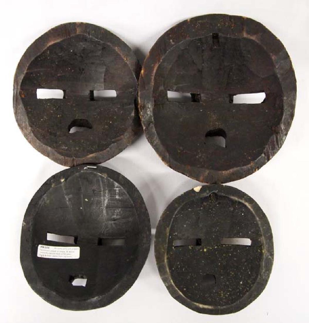 4 African Ashanti Baluba Masks - 2