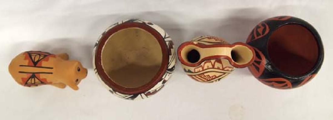 4 Pieces of Native American Jemez Pueblo Pottery - 2