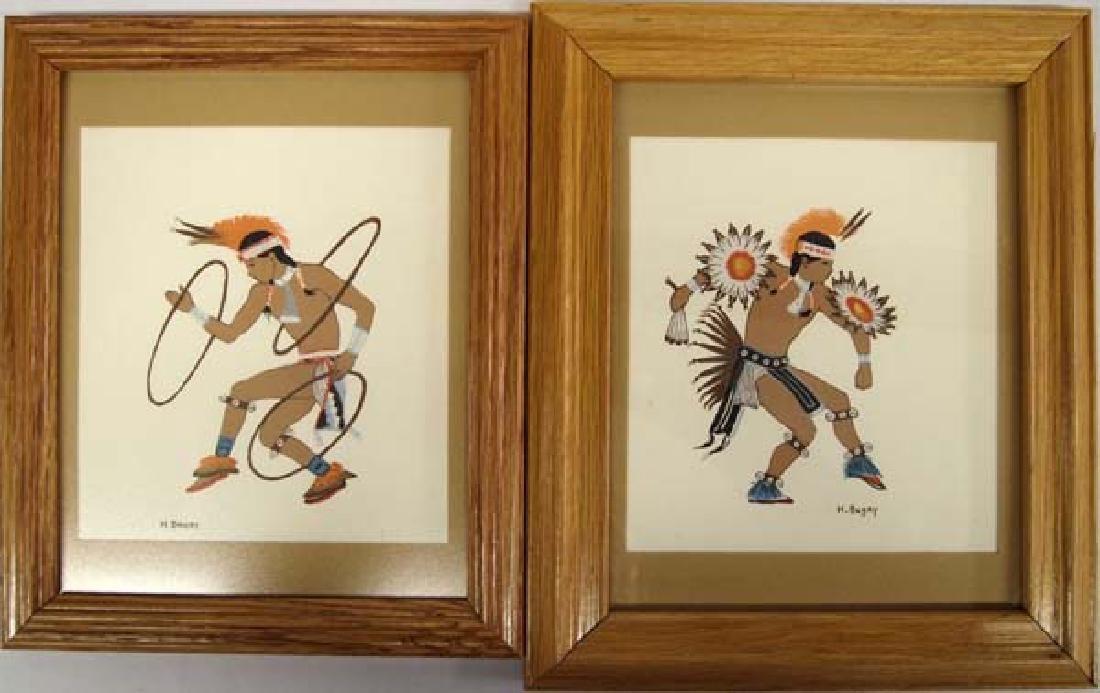 Pair of Harrison Begay Silkscreen Prints
