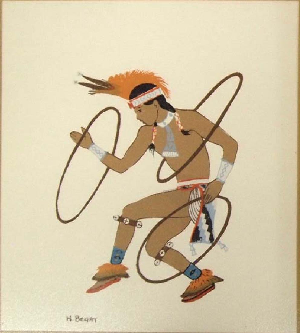 Pair of Harrison Begay Silkscreen Prints - 4