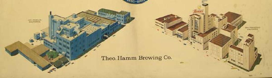 Vintage Rare Framed Hamm's Beer Centennial Sign - 2