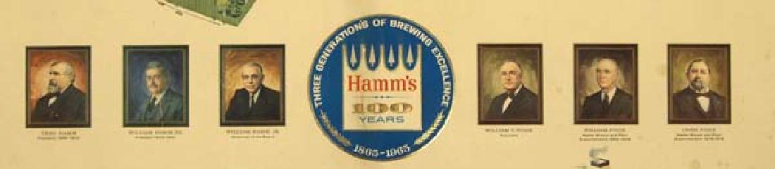 Vintage Rare Framed Hamm's Beer Centennial Sign - 3