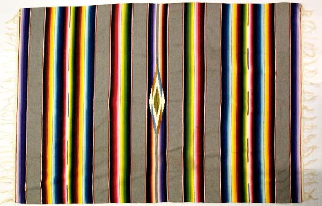 Beautiful Vintage Mexican Saltillo Wool Blanket