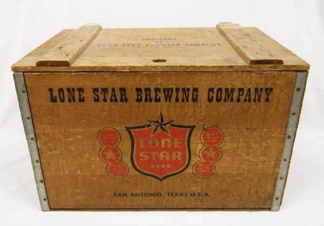Lone Star Brewing Company Wood Shipping Box