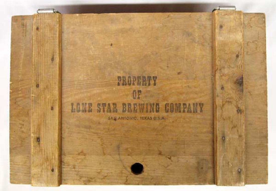 Lone Star Brewing Company Wood Shipping Box - 2