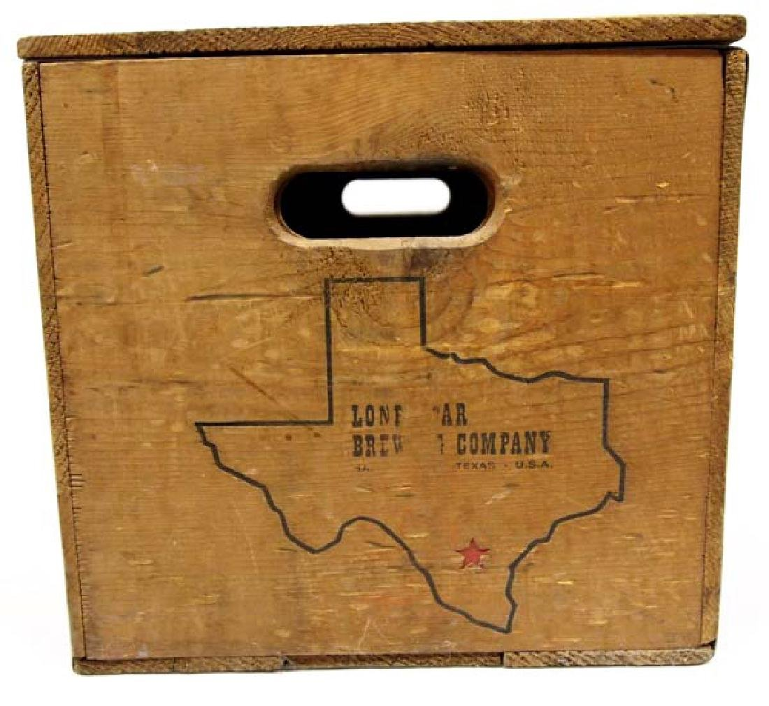 Lone Star Brewing Company Wood Shipping Box - 4