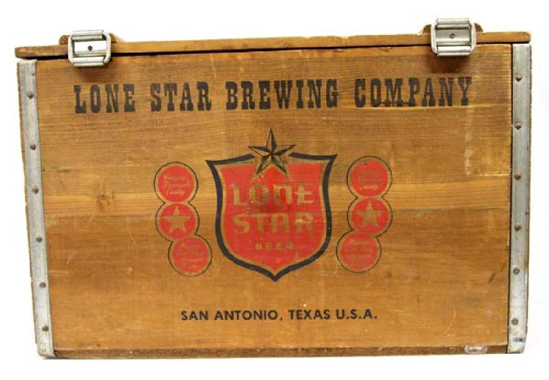 Lone Star Brewing Company Wood Shipping Box - 5