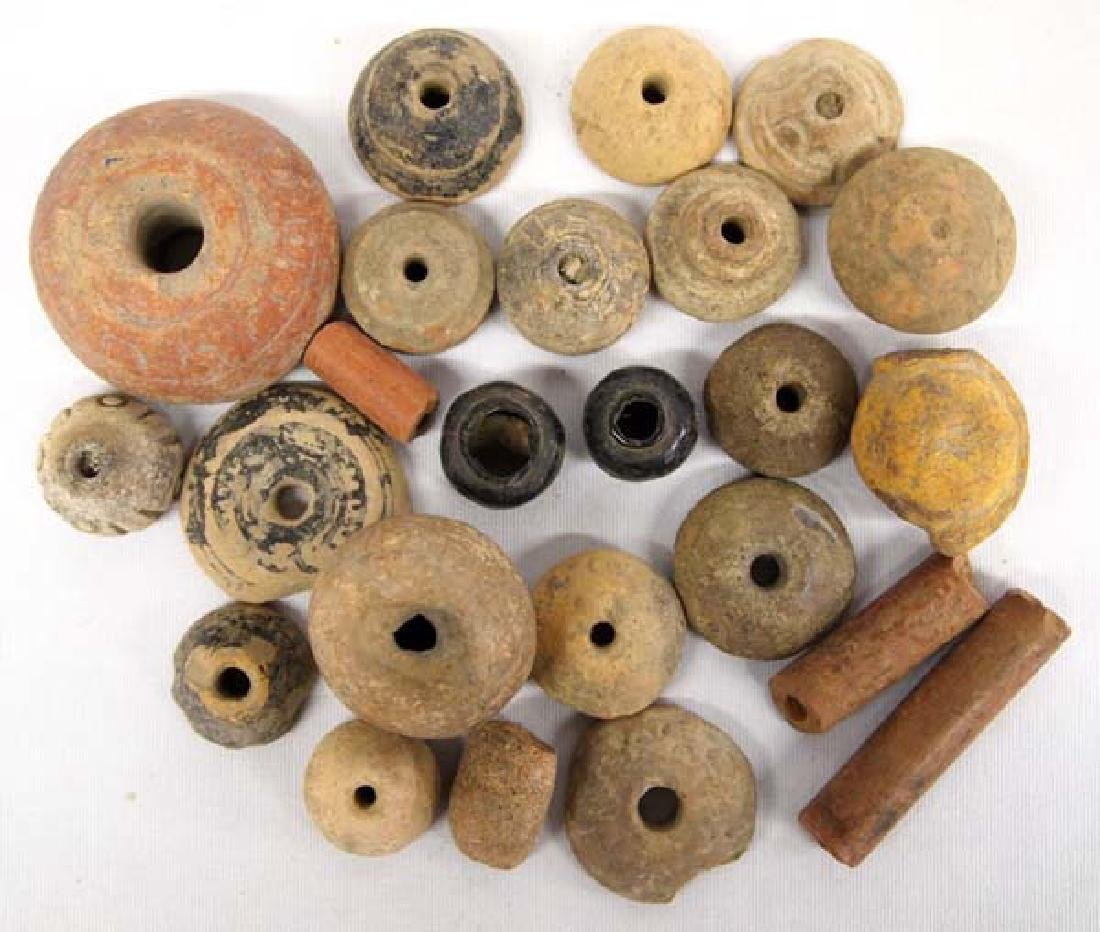 Collection of PreColumbian Pottery Beads