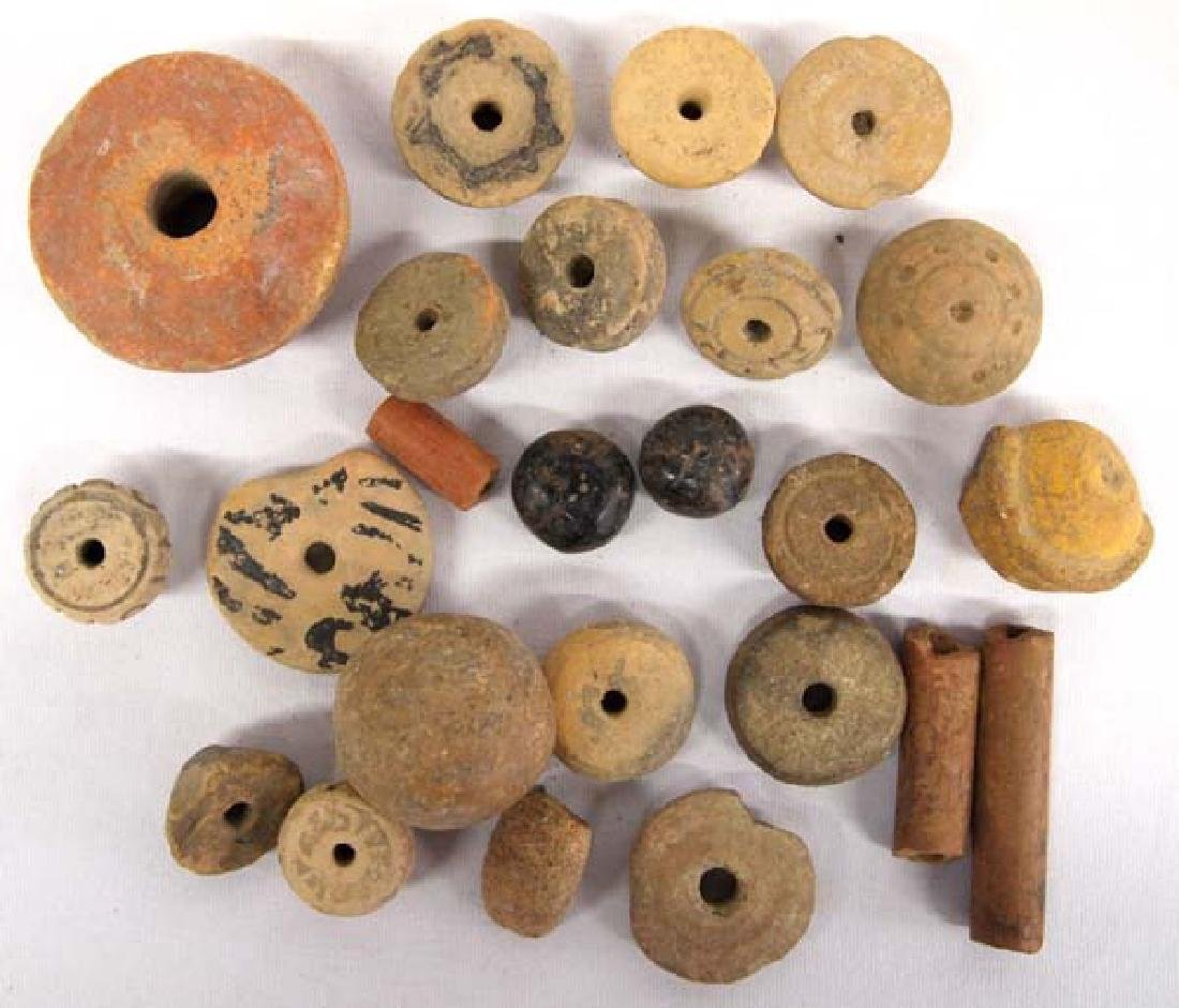 Collection of PreColumbian Pottery Beads - 2