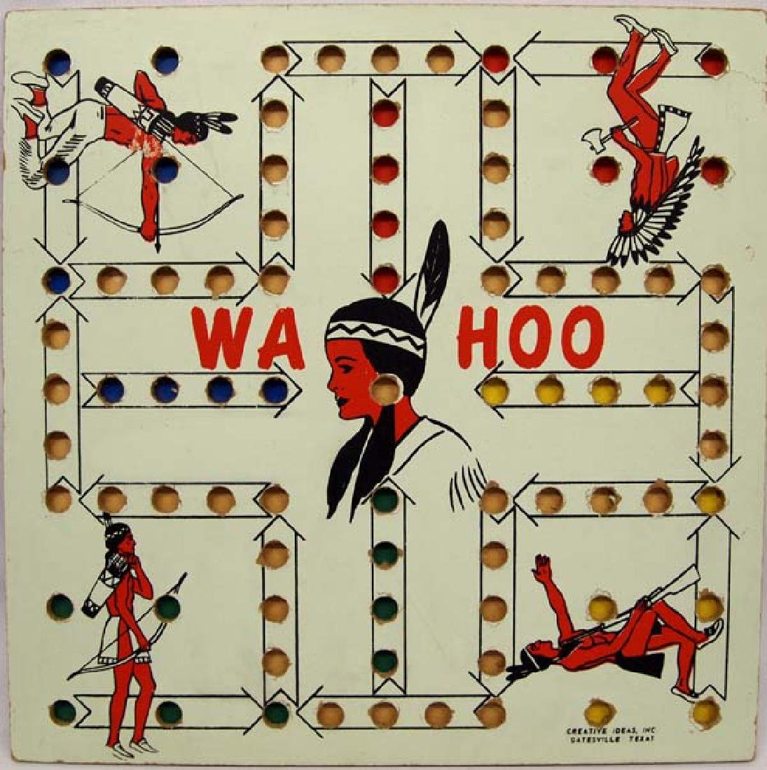 Vintage 1950 Creative Ideas Wa Hoo Board Game
