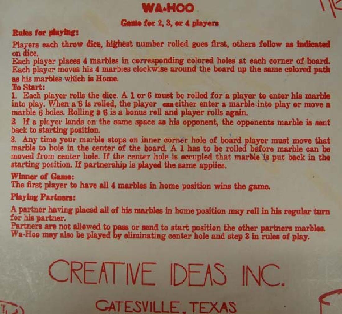 Vintage 1950 Creative Ideas Wa Hoo Board Game - 3