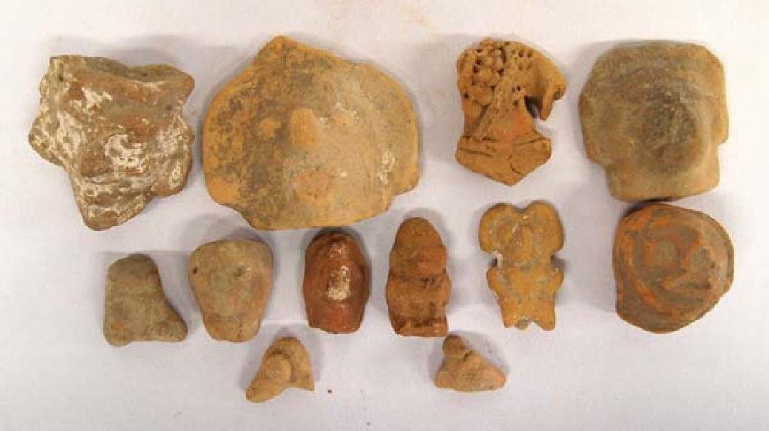 Collection of PreColumbian Pottery Heads