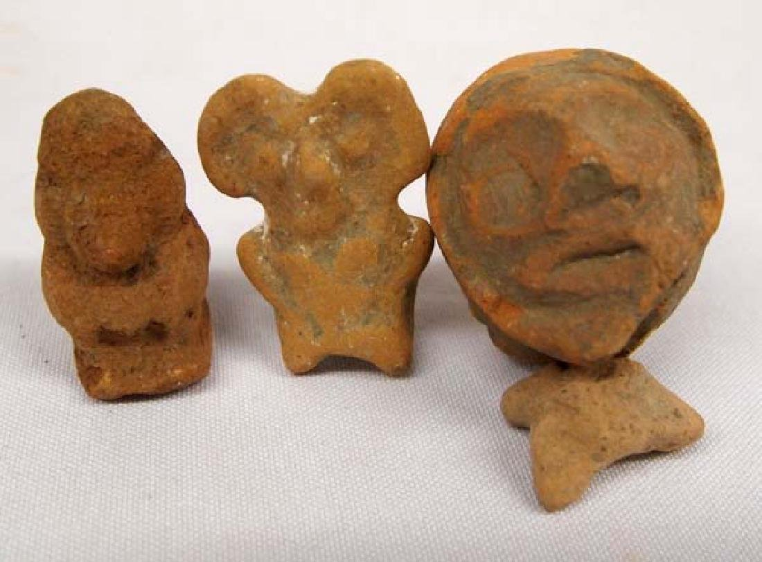 Collection of PreColumbian Pottery Heads - 2