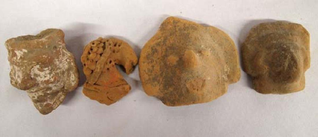 Collection of PreColumbian Pottery Heads - 3