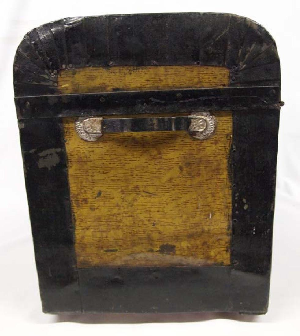 Antique Mexican Metal Clad Wood Stagecoach Trunk - 5