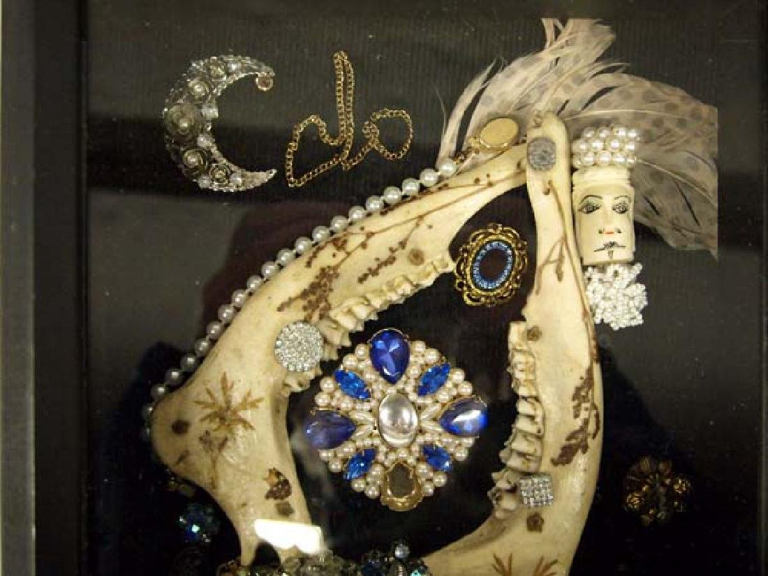 Shadowbox Frame of Antique Jewelry - 2
