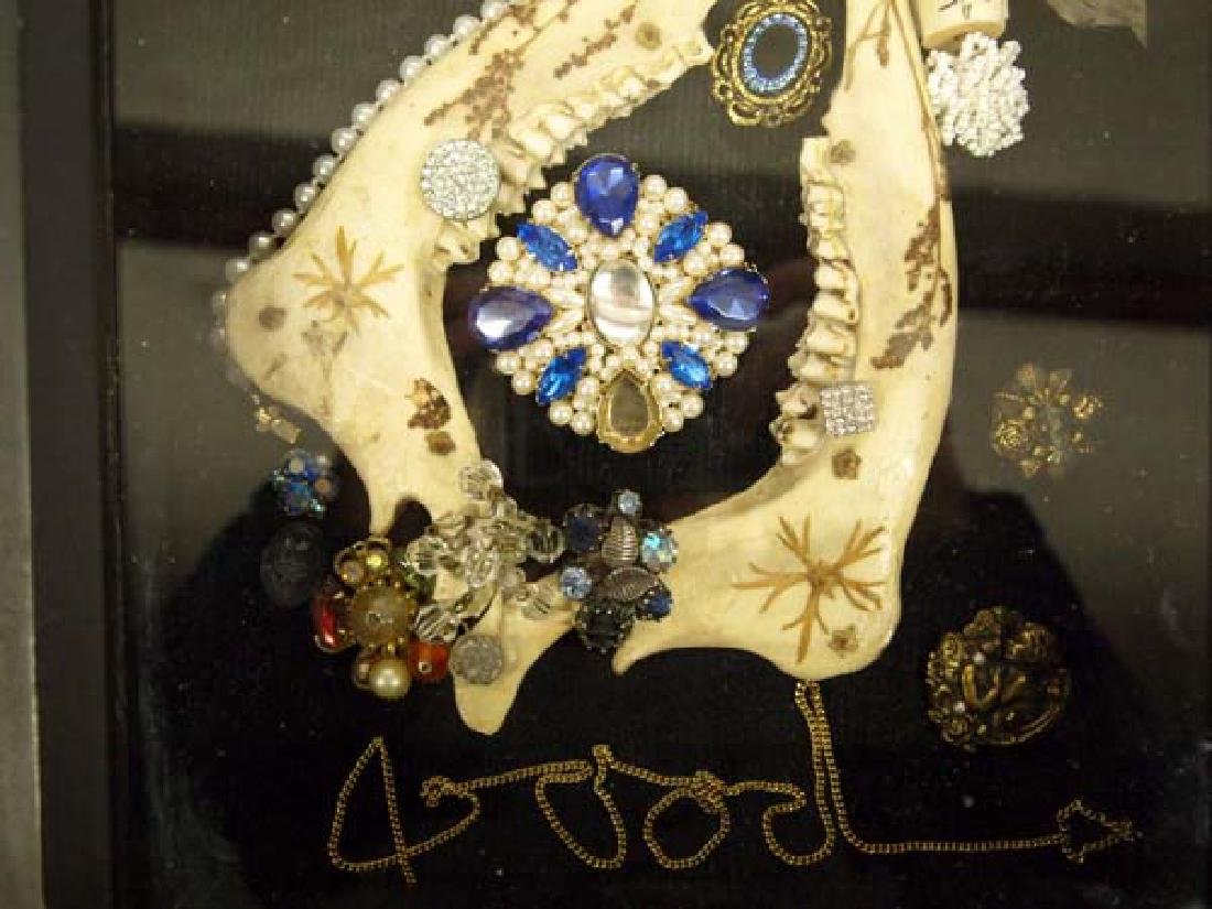 Shadowbox Frame of Antique Jewelry - 3