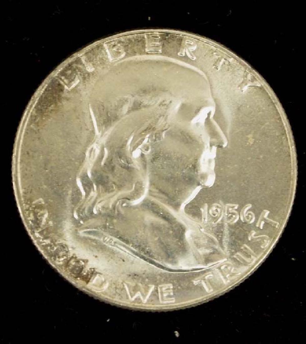 1956 Ben Franklin Half Dollar MS 65