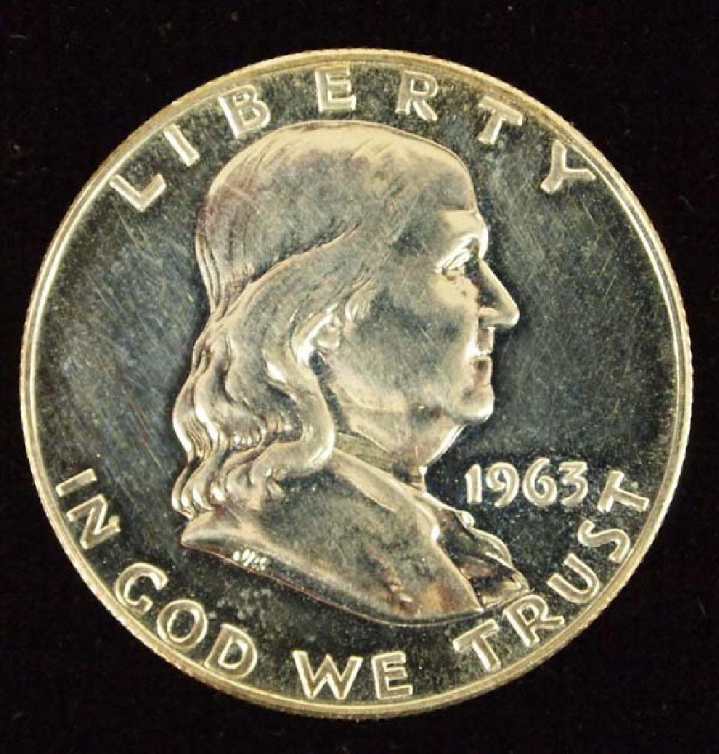 1963 Ben Franklin Half Dollar MS 65