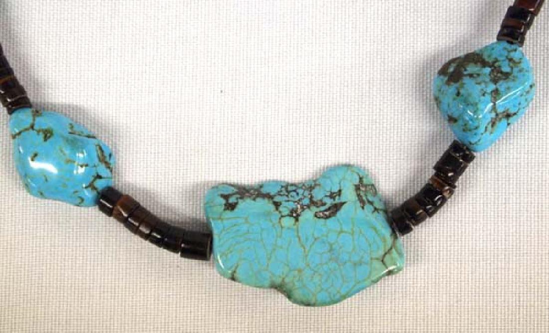 Southwestern Kingman Turquoise Heishi Necklace
