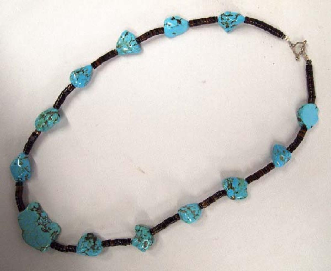 Southwestern Kingman Turquoise Heishi Necklace - 2