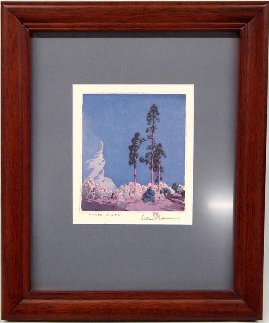 Gustave Baumann Print Three Pines