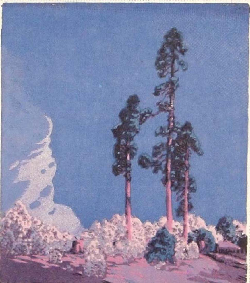 Gustave Baumann Print Three Pines - 2