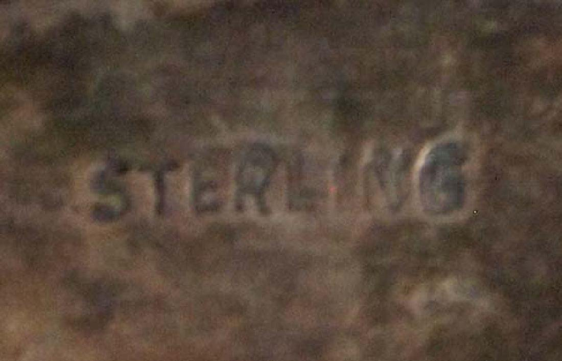 Navajo Sterling Silver Turquoise Slave Bracelet - 5