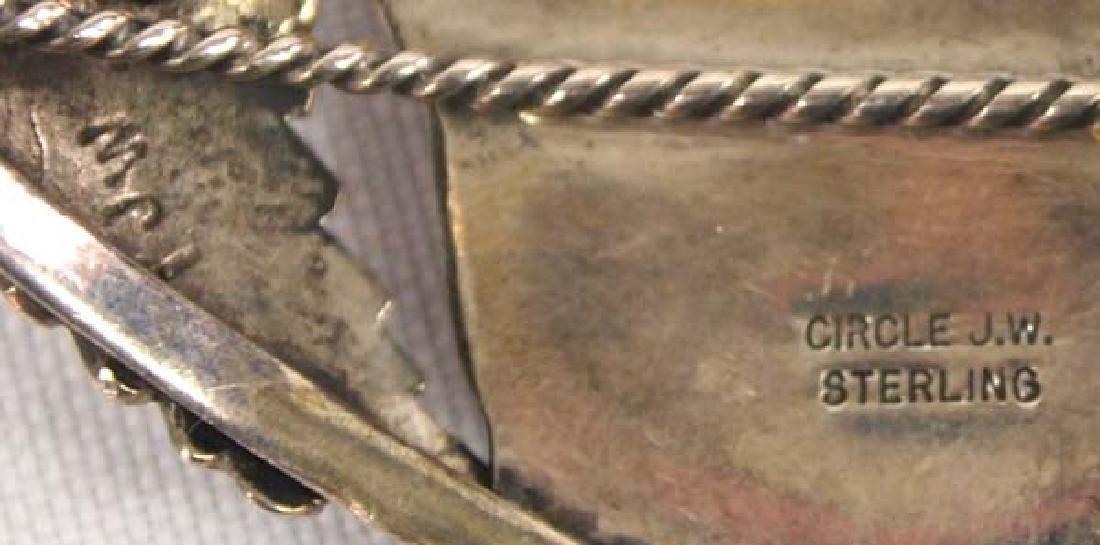 Navajo Sterling Silver and Paua Shell Bracelet - 4