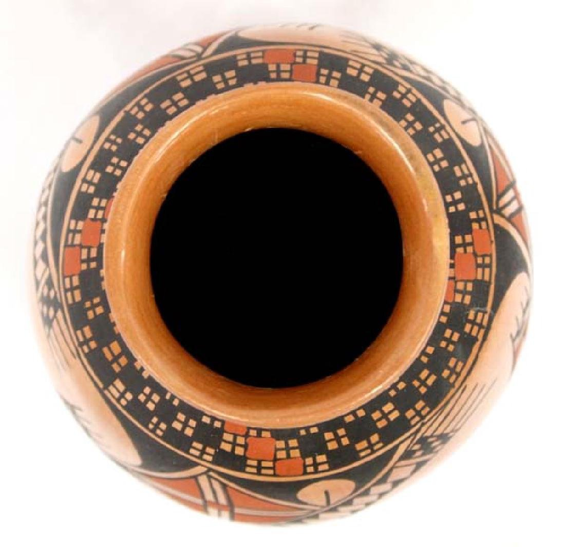 Mexican Mata Ortiz Polychrome Jar by Luis Ortiz - 3