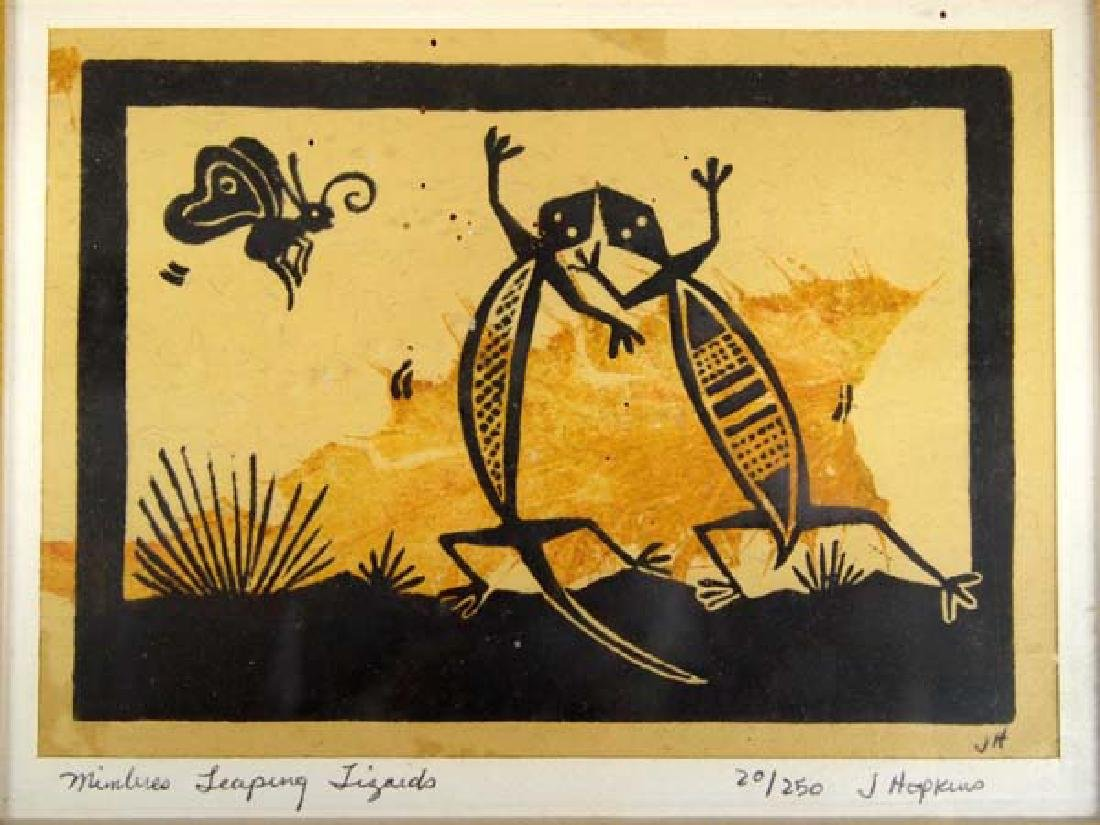2 Original Mimbres Lino Block Prints, J. Hopkins - 7