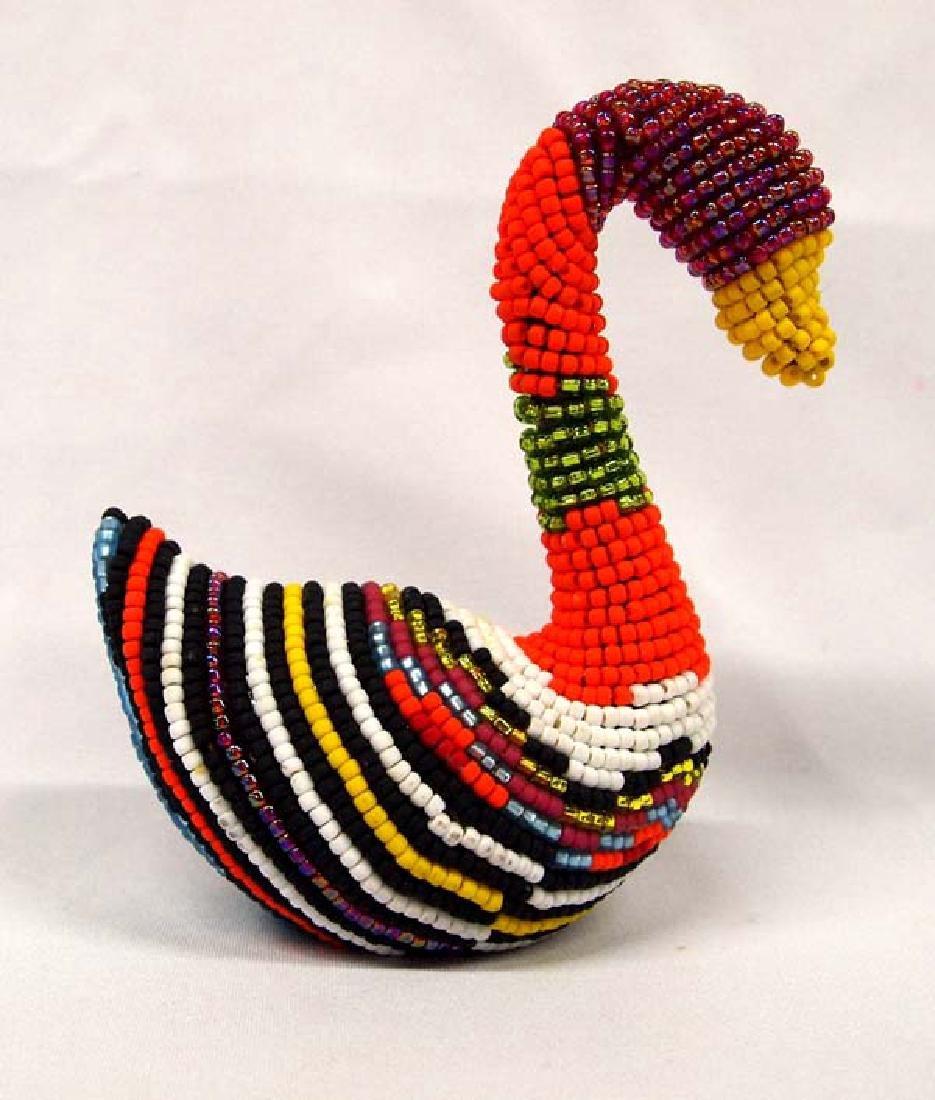 Hand Beaded Swan by Kathy Kills Thunder - 2