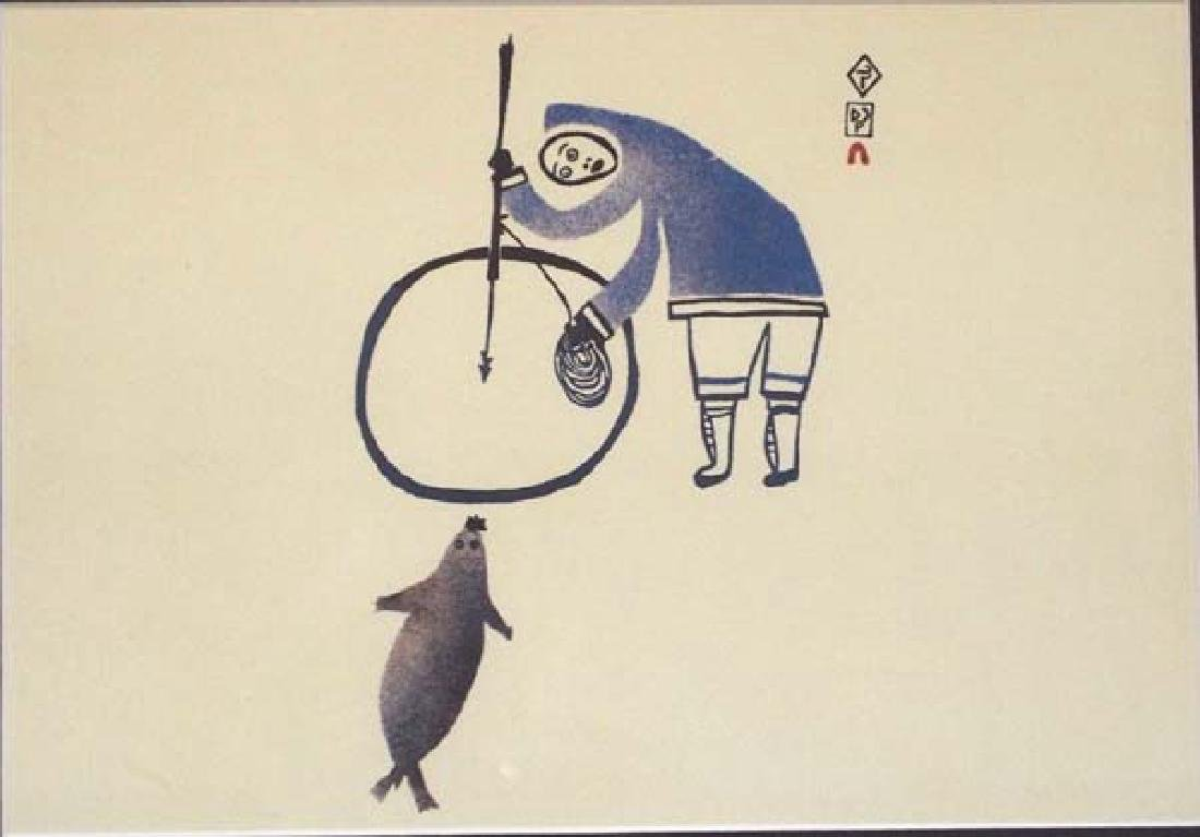 Canadian Inuit Man Wanting a Seal by Lucy Qinnuayuak - 2