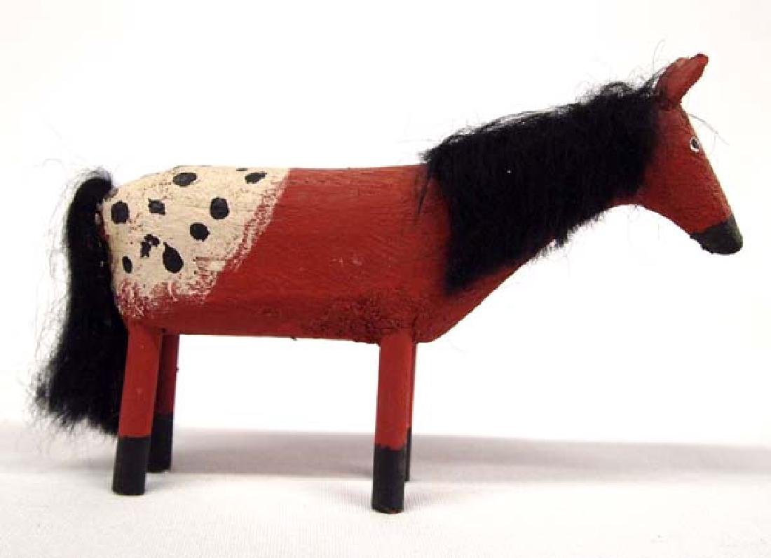 Navajo Carved Wood Appaloosa Horse by Les Herbert